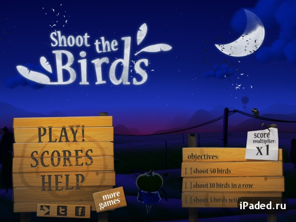 shoot the birds для iPad